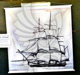 Gravura do navio Hereux Voyage utilizado na travessia do Atlântico